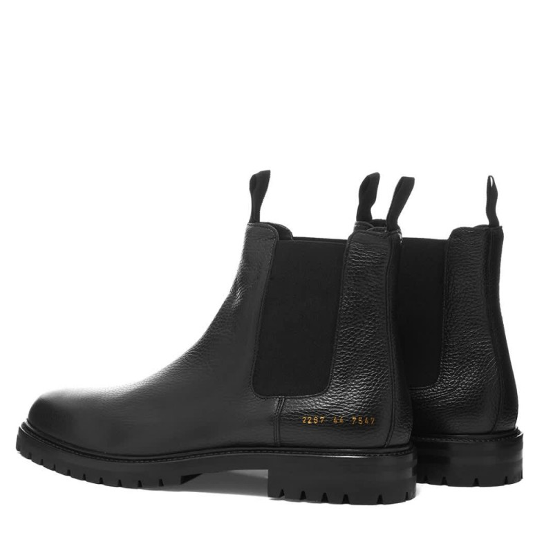 Common Projects Winter Chelsea Bumpy Black (2287-7547)